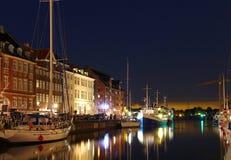 Nyhavn, Kopenhaga, Dani Fotografia Royalty Free