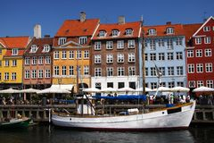 Nyhavn, Kopenhagen Stock Afbeeldingen