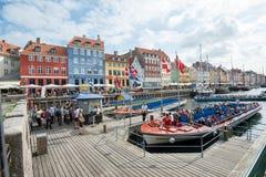 Nyhavn, Kopenhagen royalty-vrije stock foto's