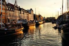 Nyhavn, Kopenhagen stock foto's