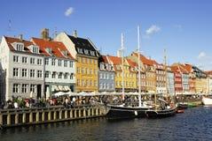 Nyhavn in Kopenhagen Stockfotografie