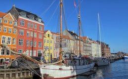 Nyhavn in Kopenhagen Lizenzfreie Stockfotos