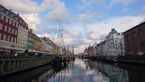 Nyhavn Kopenhagen Stockbild