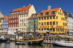 Nyhavn in Kopenhagen Lizenzfreies Stockfoto
