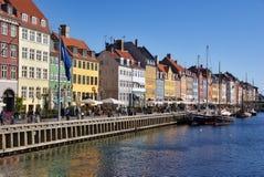 Nyhavn in Kopenhagen. Denemarken Royalty-vrije Stock Foto's
