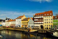 Nyhavn - Kopenhagen, Denemarken Stock Foto