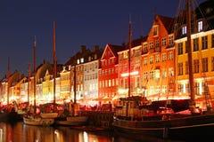 Nyhavn, Kopenhagen, Denemarken Royalty-vrije Stock Afbeelding