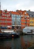 Nyhavn, Kopenhagen, Denemarken Royalty-vrije Stock Foto
