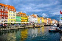 Nyhavn - Kopenhagen, Denemarken royalty-vrije stock afbeeldingen