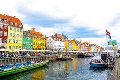 Nyhavn - Kopenhagen, Denemarken stock afbeeldingen