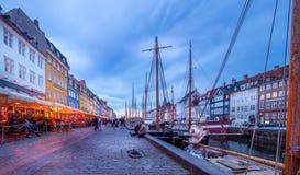 Nyhavn Kopenhagen - der neue Hafen Stockfotografie