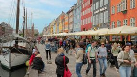 Nyhavn, Kopenhagen-Reise stock video footage