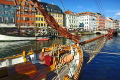 Nyhavn (new Harbor) in Copenhagen Royalty Free Stock Images