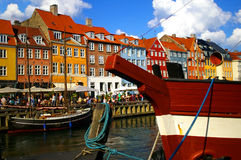 Nyhavn (new Harbor) in Copenhagen, Denmark. Royalty Free Stock Photo