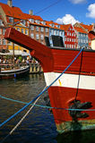 Nyhavn (new Harbor) in Copenhagen, Denmark. Stock Photography