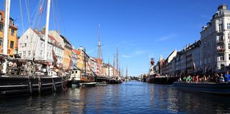 Nyhavn (New Harbor) Coppenhagen Stock Photos