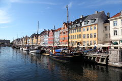 Nyhavn (New Harbor) Coppenhagen Royalty Free Stock Photo