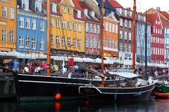 Nyhavn (New Harbor) Coppenhagen Stock Image