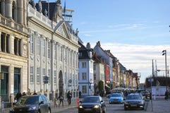 Nyhavn (nuevo puerto) en Copenhague, Dinamarca Imagen de archivo libre de regalías