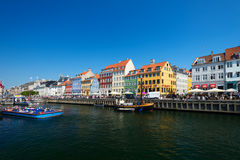 Nyhavn old waterfront and canal district Stock Image