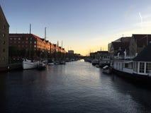 Nyhavn-Sonnenuntergang Stockbilder