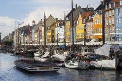 Nyhavn street in Copenhagen Stock Images