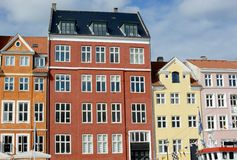 Nyhavn townhouses Royalty Free Stock Photography