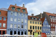 Nyhavn Townhouses Stock Photo