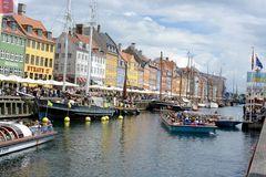 Nyhavn Townhouses Stock Images