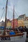 Nyhavn-Ufergegend Kopenhagen lizenzfreie stockbilder
