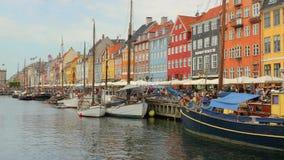 Nyhavn, voyage de Copenhague banque de vidéos