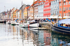 Nyhavn - waterfront, canal in Copenhagen Stock Images