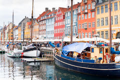Nyhavn - waterfront, canal in Copenhagen Royalty Free Stock Photography