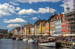 Nyhavn, a waterfront in Copenhagen, Denmark Stock Photography
