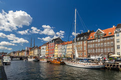 Nyhavn, a waterfront in Copenhagen, Denmark Stock Photos