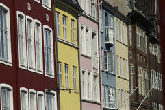 Nyhavn windows. Windows in scandinavian houses in Copenhagen Royalty Free Stock Images