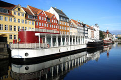 Nyhavn & x28; nowy Harbor& x29; w Kopenhaga, Dani Fotografia Stock