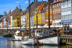 Nyhavndistrict in Kopenhagen denemarken stock fotografie