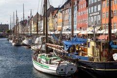 Nyhavnhaven in Kopenhagen, Denemarken royalty-vrije stock foto