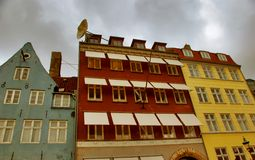 Nyhavns, Old And Modern - Copenhagen Stock Image