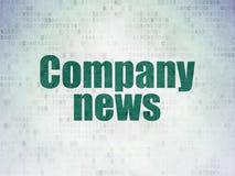 Nyheternabegrepp: Företagsnyheterna på pappersbakgrund för Digitala data Fotografering för Bildbyråer