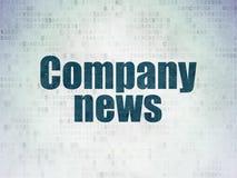 Nyheternabegrepp: Företagsnyheterna på pappersbakgrund för Digitala data Arkivfoto