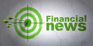 Nyheternabegrepp: mål och finansiell nyheterna på väggbakgrund Royaltyfria Foton