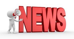 Nyheternabegrepp och en megafon Royaltyfria Foton