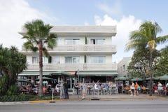NyheternaCafe Miami Beach Arkivbild