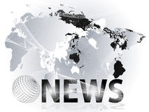 nyheternapresentation vektor illustrationer