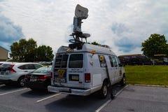 Nyheternaskåpbil för abc 27 Royaltyfria Bilder