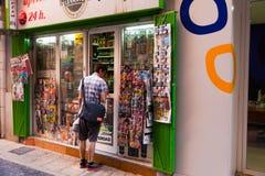 Nyheternaställningar i gata av Murcia spain Royaltyfri Fotografi