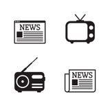 Nyheternasymbolsuppsättning Arkivbild