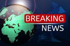 Nyheternavektorbakgrund, breaking news Kan användas för bloggbakgrund eller teknologisk eller affärsartikelbakgrund vektor illustrationer